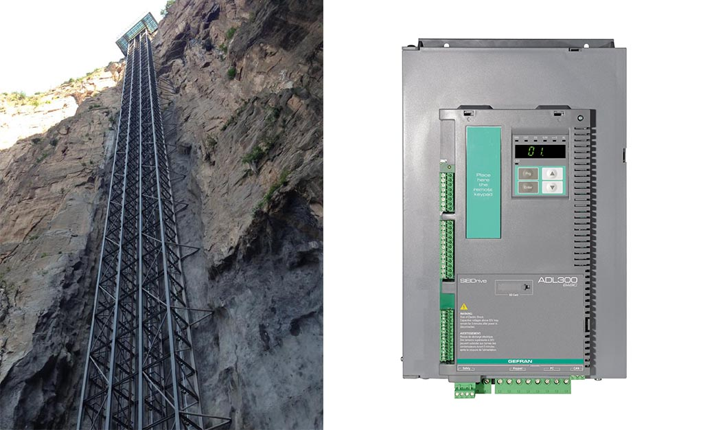 Gefran Inverters for the second highest open-air elevator in China
